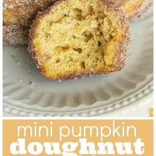 Mini Pumpkin Doughnut Muffins