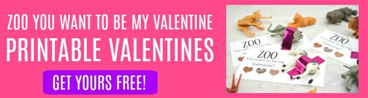 zoo printable valentines