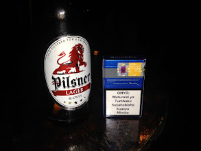Photo: Local beer - Local cigarettes