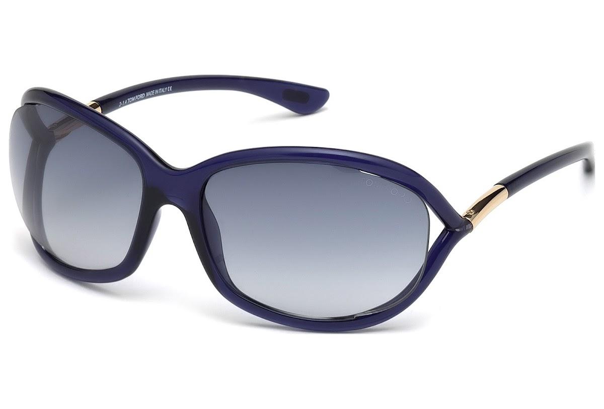 3271ec34533d Sunglasses Tom Ford Jennifer FT0008 C61 90W (shiny blue   gradient blue)