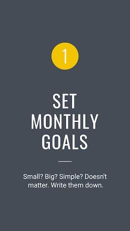 Set Monthly Goals - Facebook Story item