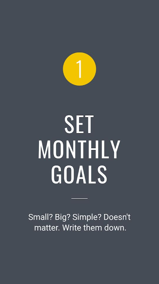 Set Monthly Goals - Facebook Story Template
