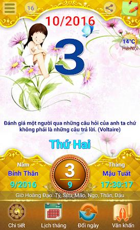 Lich Van Nien - Lịch VN 2016 7.5 screenshot 334426