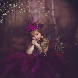 Amber Woods by Julianna Michelle - Babies & Children Child Portraits ( fairy bunny fantasy child forest,  )
