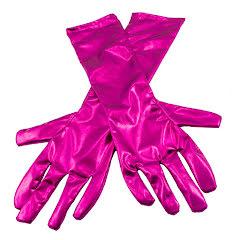 Handskar, metallic magenta