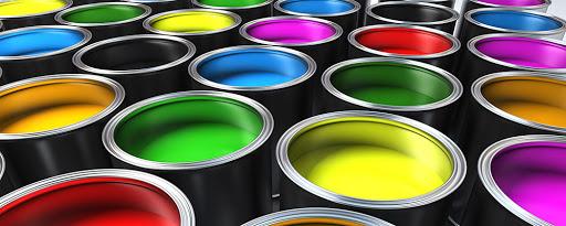 latas de pintura multicolor a base de oxido de zinc y polvo de zinc