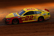 Joey Logano, driver of the #22 Shell Pennzoil Ford, drives during the NASCAR Cup Series Food City Dirt Race at Bristol Motor Speedway on March 29, 2021 in Bristol, Tennessee.