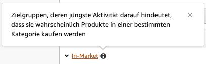Amazon-Zielgruppe-In-Market