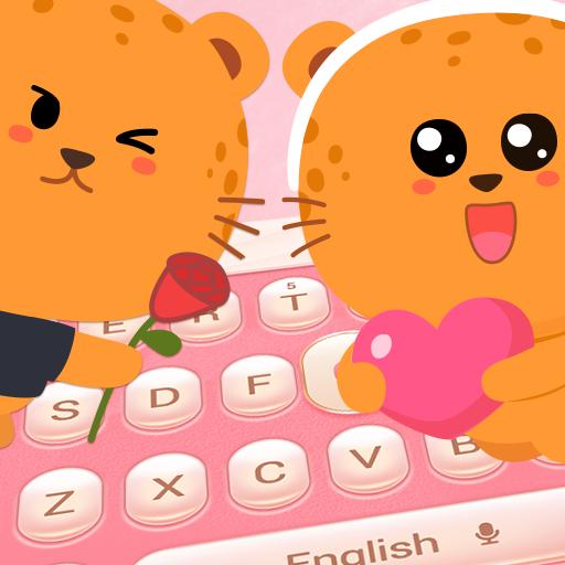 Amorous Leopard Keyboard Theme