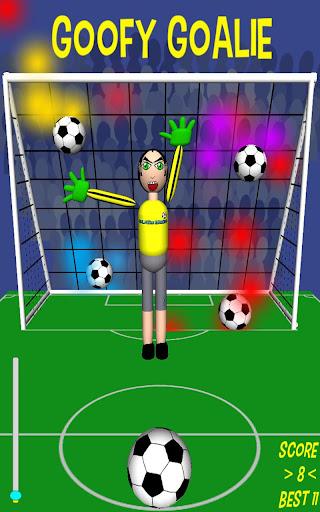 Goofy Goalie soccer game