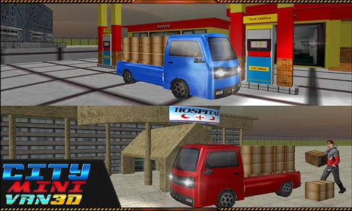 ミニドライバートラック輸送3D