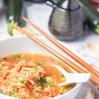 Egg Drop Soup with Zucchini and Daikon Noodles {GF, DF}