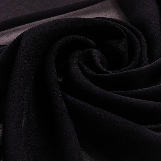 Sidenchiffong - svart