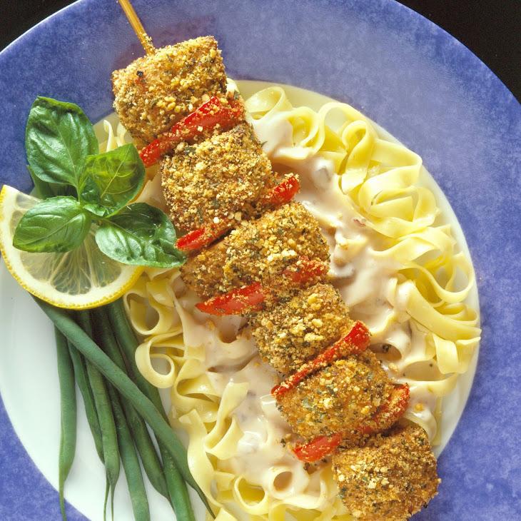 City Pork Kabobs with Creamy Mushroom Sauce Recipe