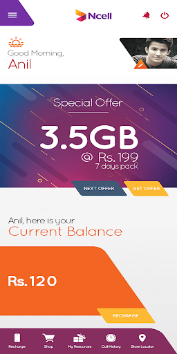 Ncell App - Free SMS, Buy Data Packs, Recharge 3.0.0.1 screenshots 2