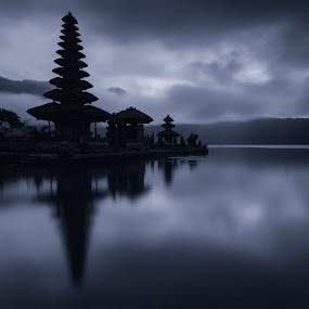 Sacred by Fariz Mohammad - Buildings & Architecture Places of Worship ( bali, reflection, monochrome, black and white )