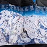Matterhorn map in Zermatt, Valais, Switzerland