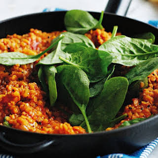 Red Lentil Dhal With Spinach.