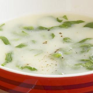Cauliflower, Potato and Spinach Soup.