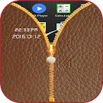Leather Zipper Screen Lock Icon