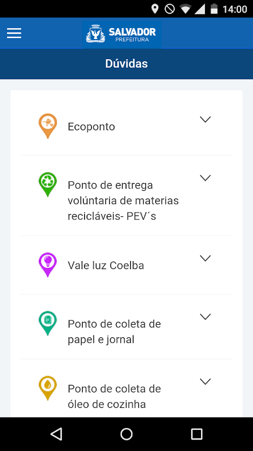 Coleta Seletiva Salvador- screenshot