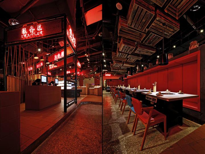 В інтер'єрі багато традиційного китайського червоного кольору