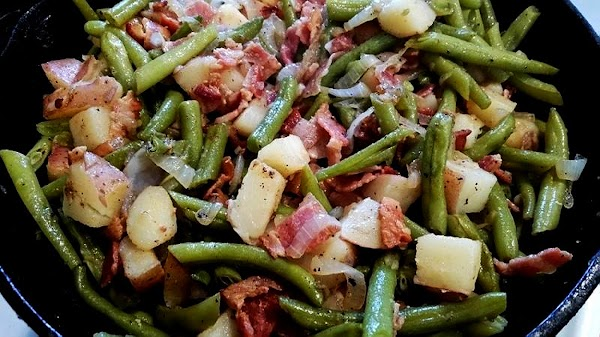 ~ Grams Country Style Potatoes & Green Beans ~ Recipe