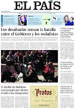 Photo: Los desahucios tensan la batalla entre el Gobierno y los socialistas, el alcalde de Badalona será juzgado por alentar el odio a los inmigrantes, entre otros temas, en la portada de EL PAÍS, edición nacional, del sábado 13 de abril de 2013 http://cort.as/3sIn