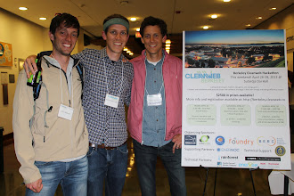 Photo: Sustainable John joined by Blake Burris and Chris George of the Cleanweb Initiative