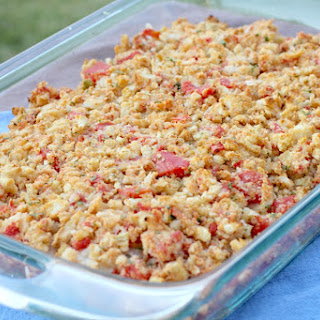 Bruschetta Chicken Casserole.