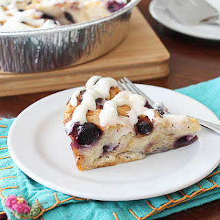 Blueberry Lemon Curd Bread Pudding.