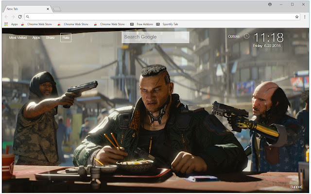 Cyberpunk 2077 HD Wallpaper New Tab Themes