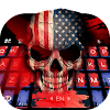 American Skull US Keyboard Theme