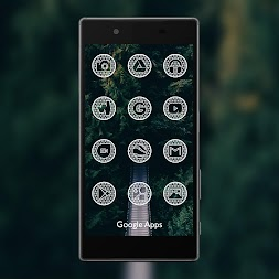 Net White - Icon Pack APK screenshot thumbnail 1