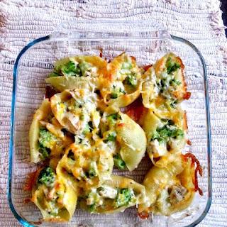 Chicken & Broccoli Stuffed Shells.