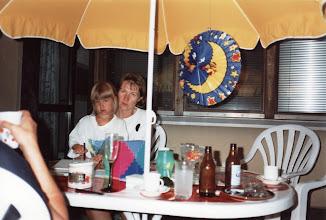 Photo: 1993 - Elokuun kuutamojuhlat terassilla