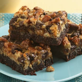 Six-Layer Brownie Bars.