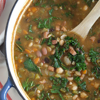 16 Bean Soup with Ham and Kale.