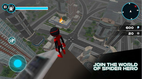 Amazing Stickman Spider Rope : Gangster Vice City Screenshot