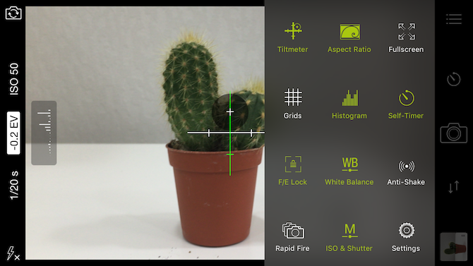 Pro Cam 8 Manual camera app for iPhone