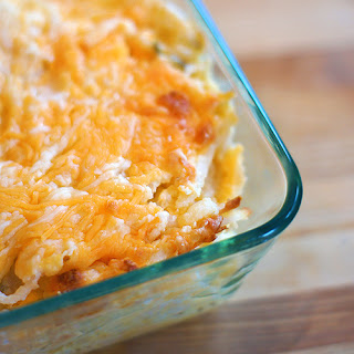 Vegetarian Cheesy Hash Brown Casserole.