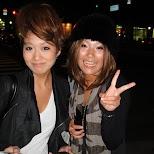 making new friends in the shinsaibashi district in osaka in Osaka, Osaka, Japan