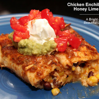Chicken Enchiladas with Honey Lime Sauce