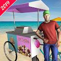 City Ice Cream Delivery Boy icon