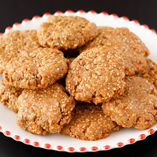 Sesame Cookies with Nut Butter & Honey.
