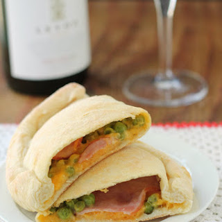 Canadian Bacon and Green Pea Calzones