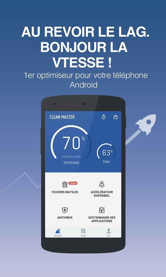 application pour nettoyer son telephone