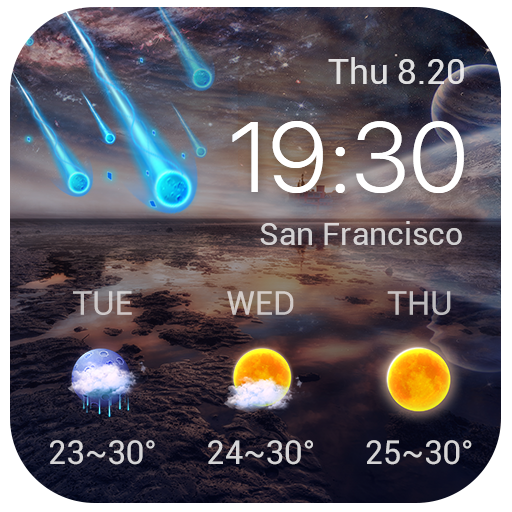 Galaxy live weather clock