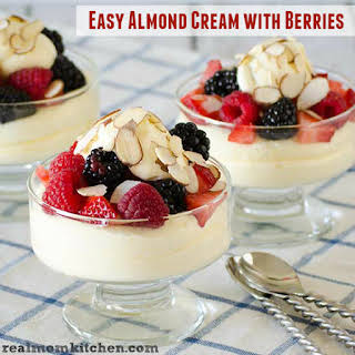Easy Almond Cream with Berries.
