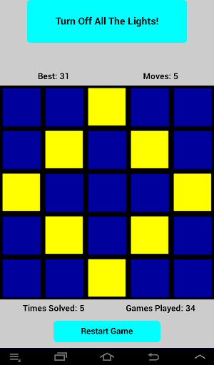 Lights Off Puzzle Game